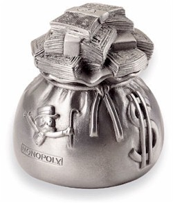Picture of a monopoly piece: money bag